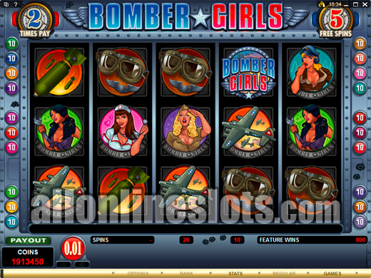 20 Line Microgaming Slots Bomber Girls