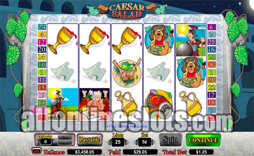 Caesar Salad™ Slot Machine Game to Play Free in Cryptologics Online Casinos