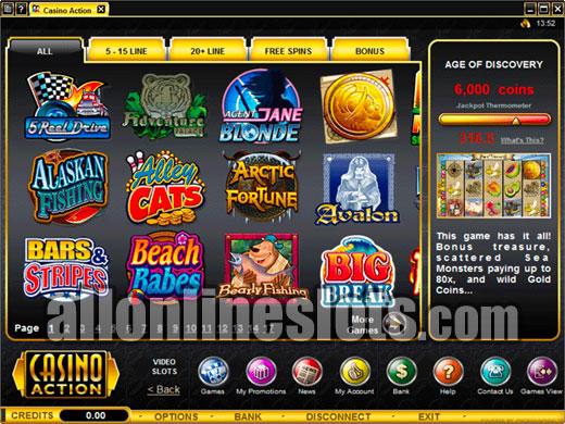 casino action online