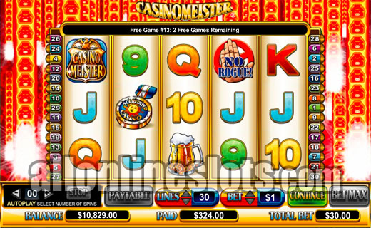 Casinomeister Slot Machine - A Free Online-Only Casino Game
