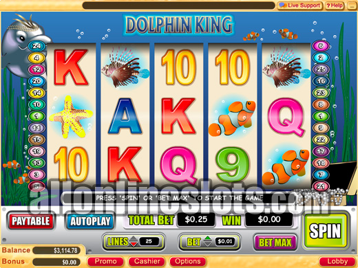 Find the big fish in Dolphin's Pearl slot at Casumo