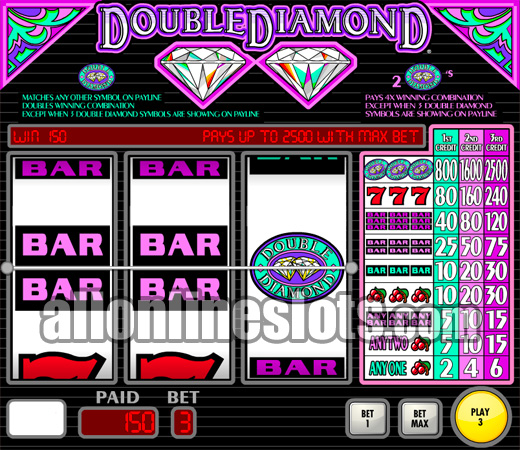 Double Diamond Slots - Spela Double Diamond Slot Gratis Online