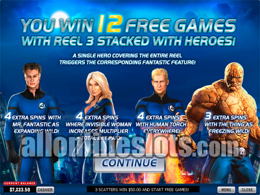 Fantastic Four 50 Lines™ Slot Machine Game to Play Free in Playtechs Online Casinos