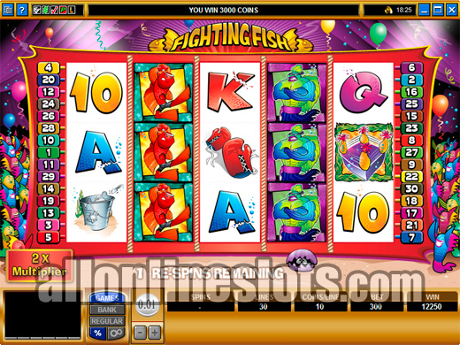 Re Spin Bonus Slots Fighting Fish By Microgaming
