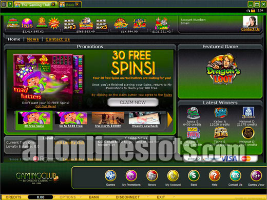 gaming club online casino reviews