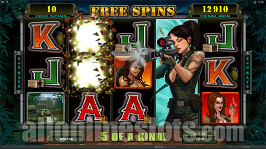 Girls with Guns- Jungle Heat™ Slot Machine Game to Play Free in Microgamings Online Casinos