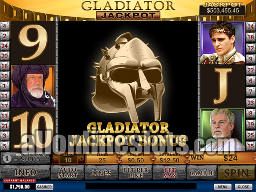 Fight for a progressive jackpot in gladiator jackpot slot kit offline connection