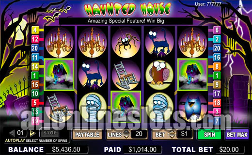 Play Haunted House Online Slots at Casino.com UK