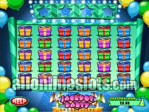 party bonus free slot game