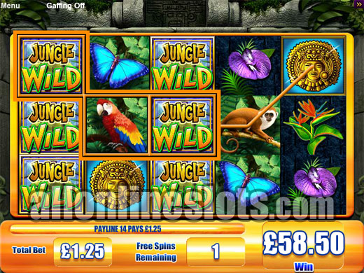 Jungle Wild™ Slot Machine Game to Play Free in WMS Gamings Online Casinos