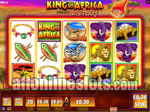 King of Africa™ Slot Machine Game to Play Free in WMS Gamings Online Casinos
