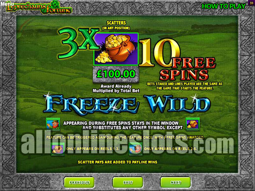 Leprechauns Fortune Online Slot Machine - Play Now for Free