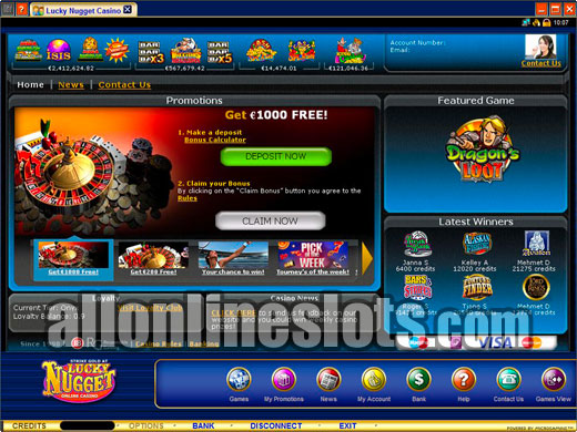 Lucky Nugget Casino Instant Play