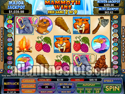 Mammoth Wins Slot - Try your Luck on this Casino Game
