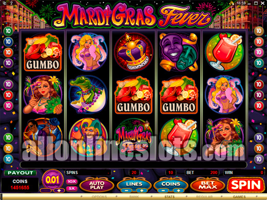 Slots With Free Spns Mardi Gras Fever
