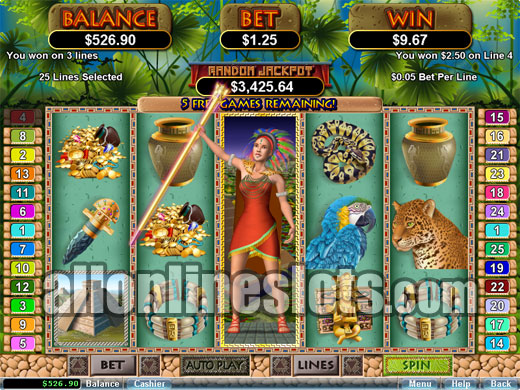 mayan queen free slot machine