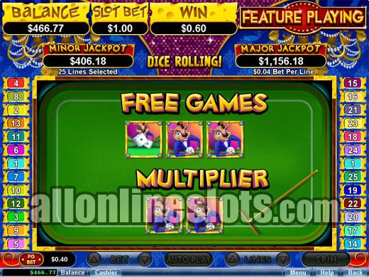 online slots free bonus roll online dice