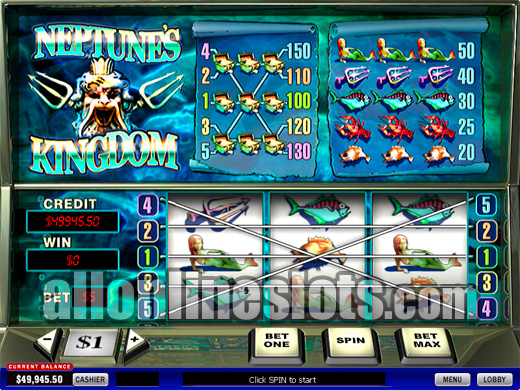 Play Neptunes Kingdom Slots Online at Casino.com NZ
