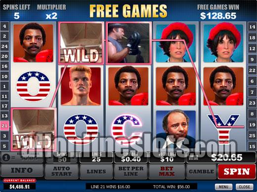 free play slots rocky