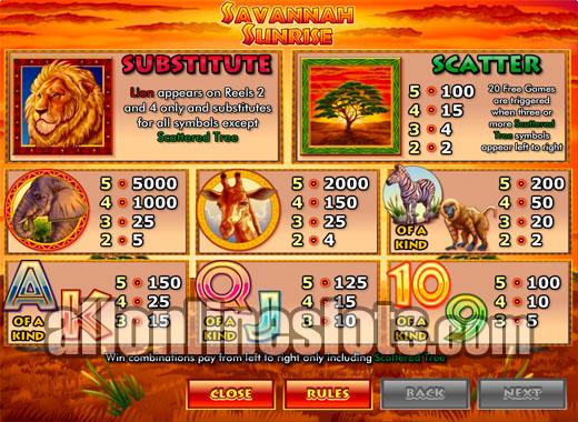 Savannah Sunrise Slots - Review & Free Online Demo Game