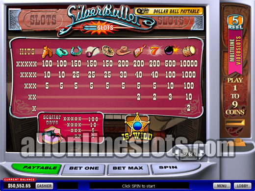 Play Silver Bullet Slots Online at Casino.com Canada