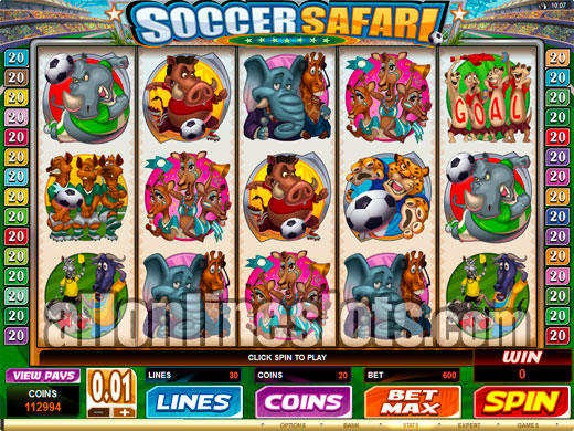 Safari Soccer™ Slot Machine Game to Play Free in PartyGamings Online Casinos