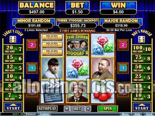 The Three Stooges II Slot Machine - Play for Free Online