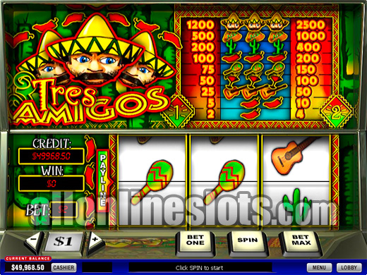 Tres Amigos™ Slot Machine Game to Play Free in Playtechs Online Casinos