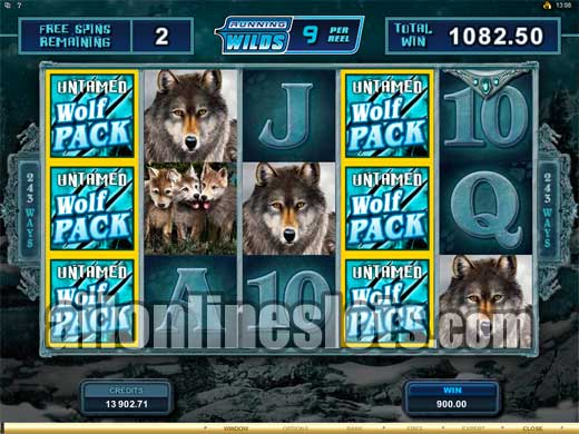 Untamed Wolf Pack™ Slot Machine Game to Play Free in Microgamings Online Casinos