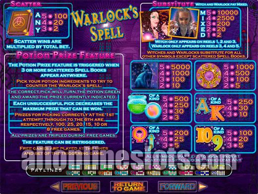 Spinning spells slots / Pinball slot machine igt