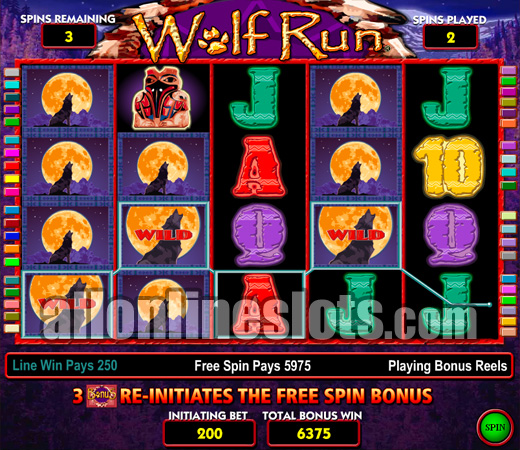 free online slot machines wolf run free spin game