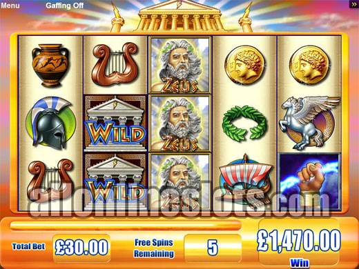 free slot machines zeus